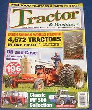 TRACTOR & MACHINERY OCTOBER 2007 - DB AND CASE/CLASSIC MF 500 COLLECTION