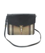 Burberry Small Macken Nova Check & Black Leather Crossbody Bag