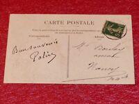 CARTE POSTALE AUTOGRAPHE SIGNEE POLIN (Acteur Chanteur Café-concert) 1907