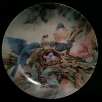"""1989 Lena Liu Nature's Poetry Series """"Song of Promise"""" Bird Collector Plate CUTE"""