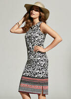 KALEIDOSCOPE BNWT Women's Multicoloured Border Print Shift Dress Size 10 RRP £80