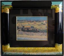 """Kunstdruck """"Die Ernte""""nach Vincent van Gogh im passenden Galerie--Rahmen"""
