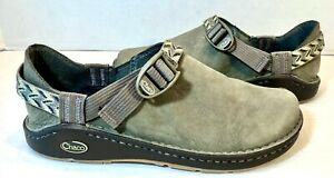 Chaco Women's Pedshed Shoes Size 10 Shitake/Multi Brown Suede Leather Shoes EUC