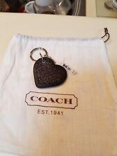 Coach Black Heart Charm/ key chain