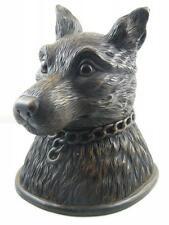 Black Forest Carved Wood Fox Head Tobacco Jar