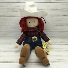 """2000 Eden Toys Madeline Cow Girl Cowboy Hat Plush Doll Toy 17"""""""
