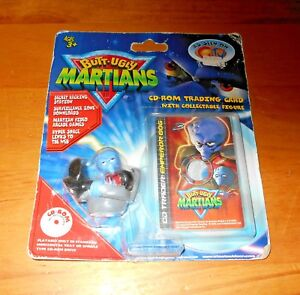 Butt Ugly Martians Figure + CD Rom Trading Card (2000) *Retro TV/Cartoon* MOC