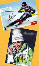 Mikaela shiffrin - 2 top autógrafo-imágenes (2) - Print copies + ski ak firmado