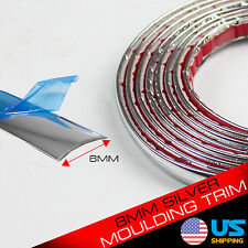 8MM x 12FT Chrome Silver Car Door Edge Guard Moulding Trim Protector Strip DIY