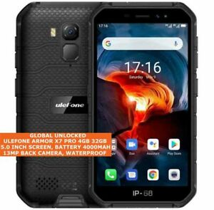 """ULEFONE ARMOR X7 PRO RUGGED 4gb 32gb Quad Core 13mp Face Id 5.0"""" Android 10 LTE"""