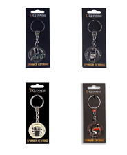 Guinness Spinner Keychain 4 Designs: Tortoise, Pint, Guinness Stout & Bottle Tou