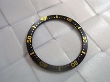 SEIKO BLACK / YELLOW BEZEL INSERT 38MM FOR SEIKO DIVER'S 7S26,7002,6309, WATCH