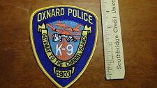 OXNARD POLICE CALIFORNIA K-9 DOG OFFICER  OBSOLETE  SHOULDER PATCH BX V #18