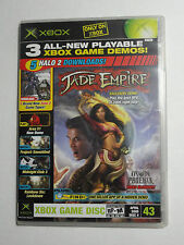XBOX OFFICIAL MAGAZINE GAME DEMO DISC W/CASE APR 2005 #43 JADE EMPIRE HALO 2