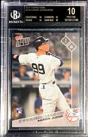 """BLACK LABEL"" AARON JUDGE ROOKIE!  BGS.10!  2017 TOPPS NOW #336.  YANKEES. RARE!"