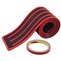 Car Rear Door Bumper Guard Protector Sill Plate Trunk Pad Trim Cover Red