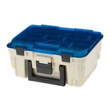 PLANO Two Level Magnum Satchel Tackle Box Beige Blue 1349-00 With Dividers/Racks