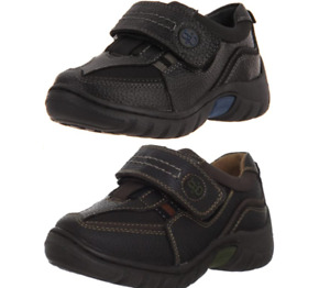 Hush Puppies SEB Boys Kids Leather Durable School Shoes Black RRP £45