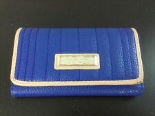 "Jessica Simpson Royal Blue Flap Wallet Snap Closure Khaki Trim 6.5""x3.75"""