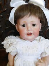"18"" Kestner 247 Character Baby Jean, Hilda Sister Bisque Happy Baby"
