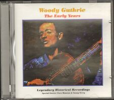 WOODY GUTHRIE The Early Years CD 20 track SONNY TERRY Cisco Houston  1998 CZECH