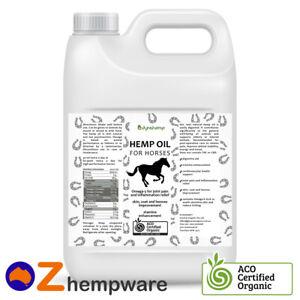 Equine Hemp Seed Oil For Horses Australian Certified Organic Supplement 0.5l-20l