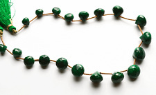 "100.CT.10"" GENUINE Super Natural Emerald Faceted ONION SHAPE Briolettes 7 -9 MM"