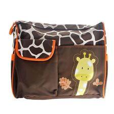 Multifonction Mummy Baby Diaper Nappy Changing Sac de rangement Momie Sac à main Girafe