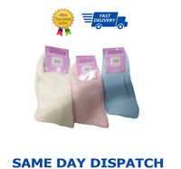 Women Solid  Thick Warm  Fleece Lined Thermal Stretchy Socks UK-3PK