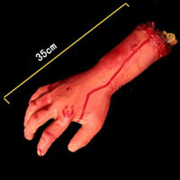 Bloody Hand Zombie Skinned Arm Skeleton Body Parts P S5A0 Halloween Dead Wa R6H6