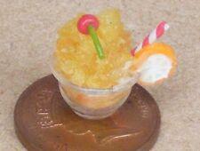 1:12 Scale Orange Ice Cream In A Fine Glass Dish Dolls House Food Accessory Nk