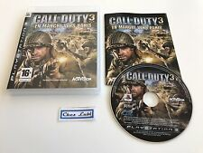Call Of Duty 3 En Marche Vers Paris - Sony PlayStation PS3 - FR - Avec Notice