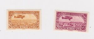 Syria-1931 Mounted mint 0.50 p yellow and 100 p magenta Air Stamps