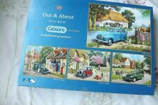 Gibsons 4 x 500 piece jigsaw puzzles - Out & About