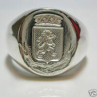 Bague Chevaliere Armoirie [ LION ]unisexe Argent massif 925/000* sans diamants *