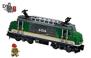 LEGO City Cargo train 60198 Locomotive only - No Back WHEELS or Powered UP