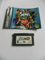 Sims 2: Pets (Nintendo Game Boy Advance, 2006) CARTRIDGE AND MANUAL ONLY  GBA
