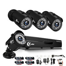 Xvim 4Ch Cctv Security Camera System Hdmi 1080P Outdoor Video Surveillance Dvr