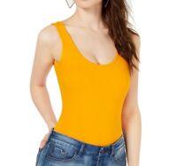 Guess Womens Tank Top Orange Size Medium M Scoop-Neck Thong Bodysuit $44 489