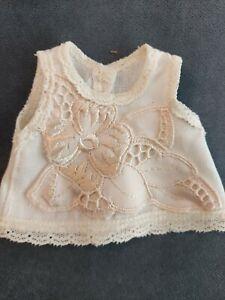 Kleidchen, Hängerchen für ca. 16-18 cm Bären oder Puppe, Handarbeit! Unikat