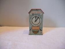 Vintage German Tin Lithographed Coin Bank Money Box Spar Uhr Drgm Excellent Cond