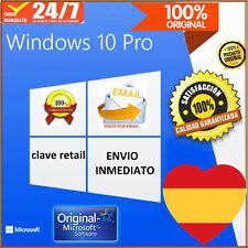 WINDOWS 10 PRO ESPAÑOL CLAVE.RETAIL-ENVIO INMEDIATO