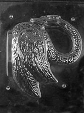 W300A & B 2P 3D Swan Chocolate Candy Soap Mold with Instructions