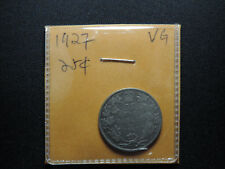 1927 25 Cent Coin Canada King George V Twenty Five Cents .800 Silver Key Date VG