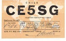 U44 Carte QSL Radio Amateur Opérateur CE5SG de CONCEPCION au CHILI