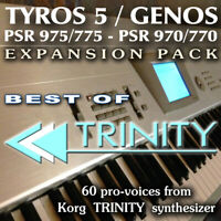 KORG TRINITY - Expansion Pack for Yamaha Genos, Tyros 5, PSR 975 etc