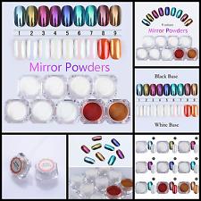 9 Box Shinning Mirror Nail Glitter Powder Gorgeous Nail Art Chrome Pigment