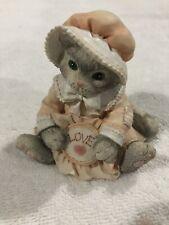 "Calico Kittens - ""Love"" Kitten Holding Embroidery Hoop. #624721"
