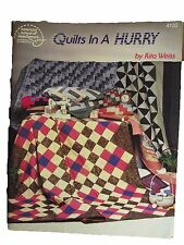 Quilts In a Hurry Rita Weiss Quilting Tips & Techniques Book Sewing Needlework