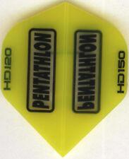 Yellow PENTATHLON HD150 Dart Flights: 3 per set